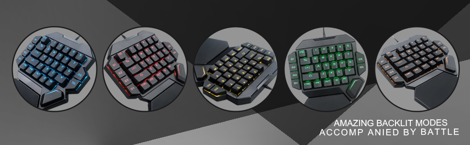 7 Tastatura One Hand Mecanica RGB RoPlayer K50