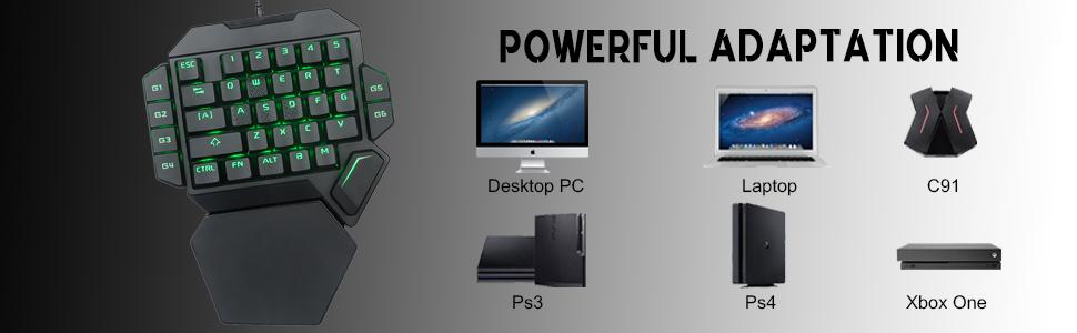 8 Tastatura One Hand Mecanica RGB RoPlayer K50