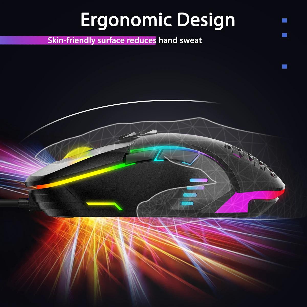 Mouse Gaming Onikuma CW902 RGB 6400DPI
