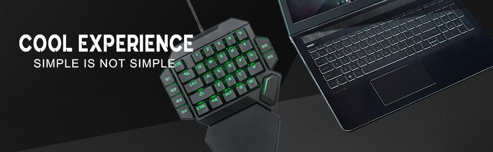 9 Tastatura One Hand Mecanica RGB RoPlayer K50